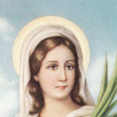 Santa Lucia.  Preghiera alla Santa